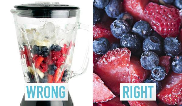 5. You use fresh fruit.
