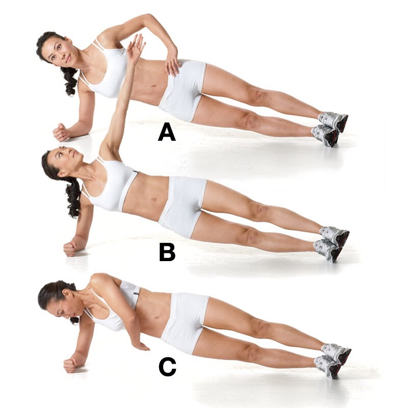 Side Plank – 3 sets 30 reps