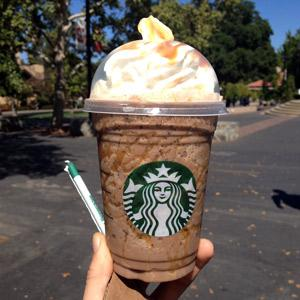 Twix Frappuccino  The Secret:	 1) Caramel Frappuccino 2) 1-2 Pumps Caramel Syrup 3) 1-2 Pumps Hazelnut Syrup 4) Java Chips 5) Caramel & Mocha Drizzle  How to Order:	Show your barista this secret recipe for the Twix Frap, they probably already know this one by heart!