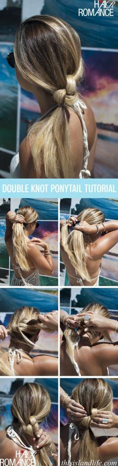 5. The double knotted pony is an even more interesting variation.