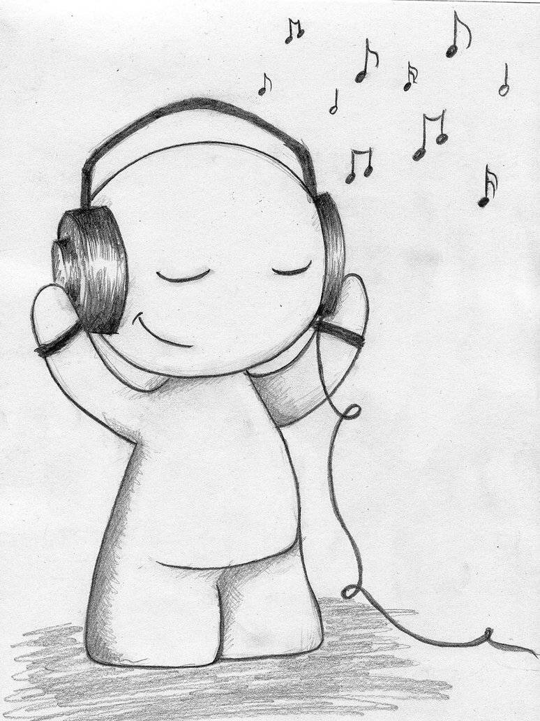 I personally love this drawing I drew It on my wall it has a very musical effect to it and looks very cool 🎧🎶🎵 also very easy to draw✏️