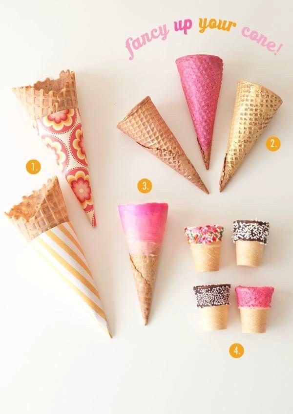 Decorate your ice cream cones