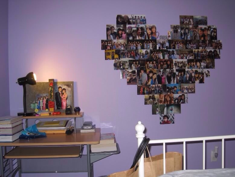 Heart Collage In Wall By Zakia Tips Musely