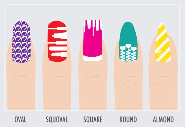 The different nail shapes...