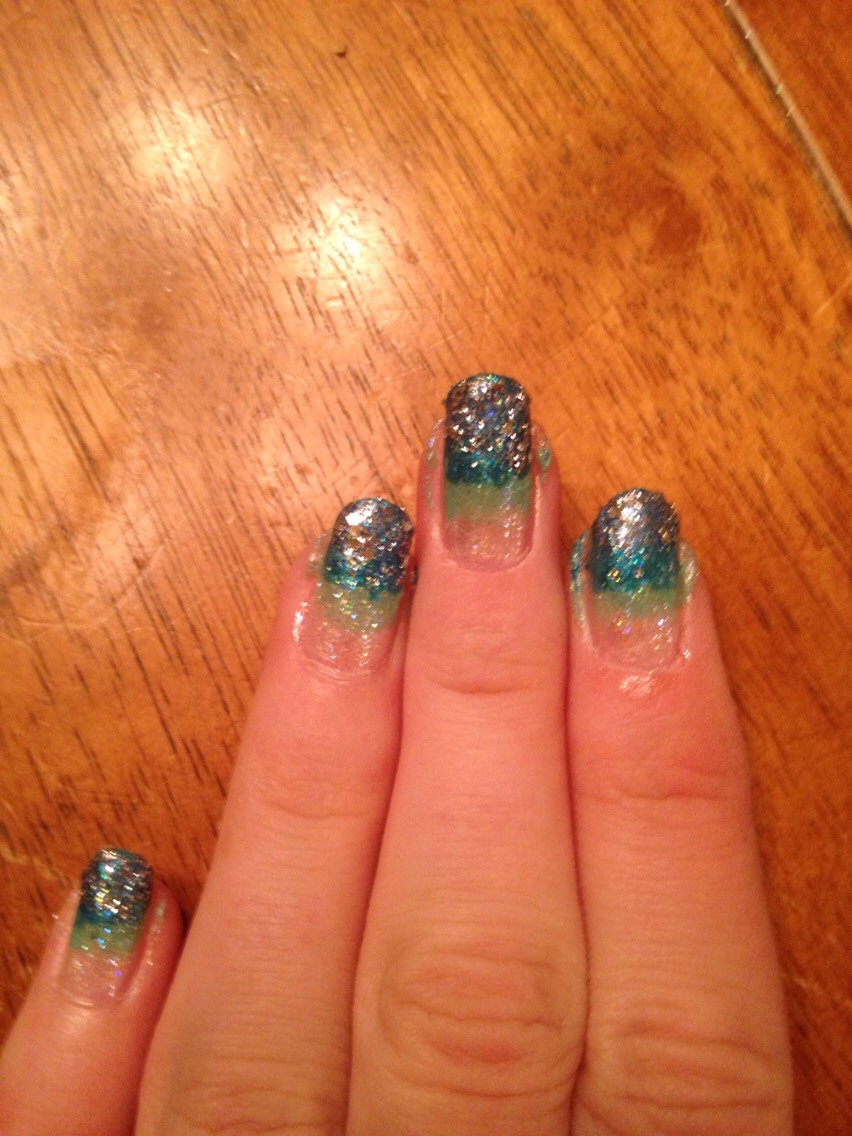Add thicker sparkle to the tips
