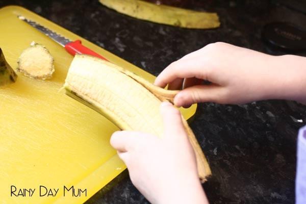 Peel bananas
