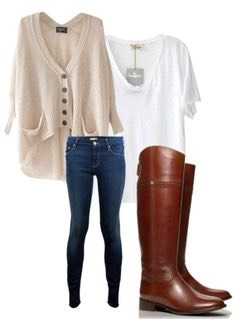 Every girl MUST have a simple white v-neck to wear with jeans and a sweater