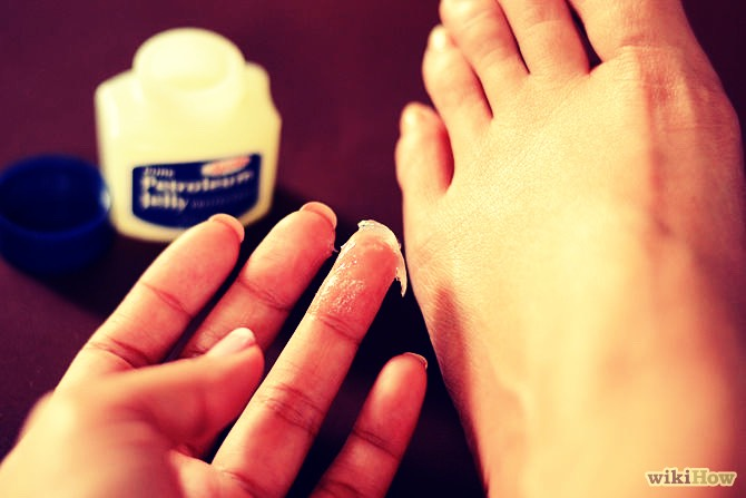 You can also put Vaseline on your feet to keep them smooth.