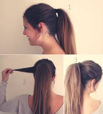simple and cute ponytail.
