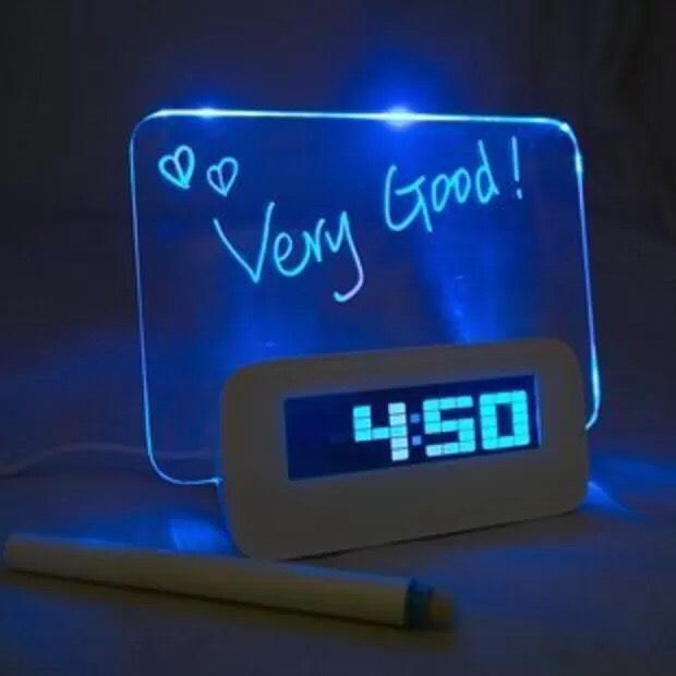 $13.99 Message Board Digital Alarm Clock