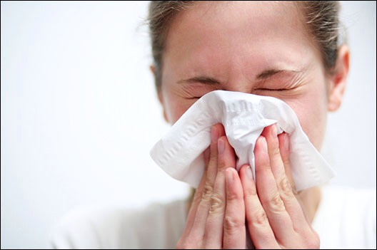 2. Apply under your nostrils when you've been using a lot of tissues.