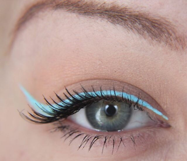 6) If you really want serenity to steal the show, do a pastel blue wing with some mascara and call it a day.  Recommended liner: Prance by Colourpop