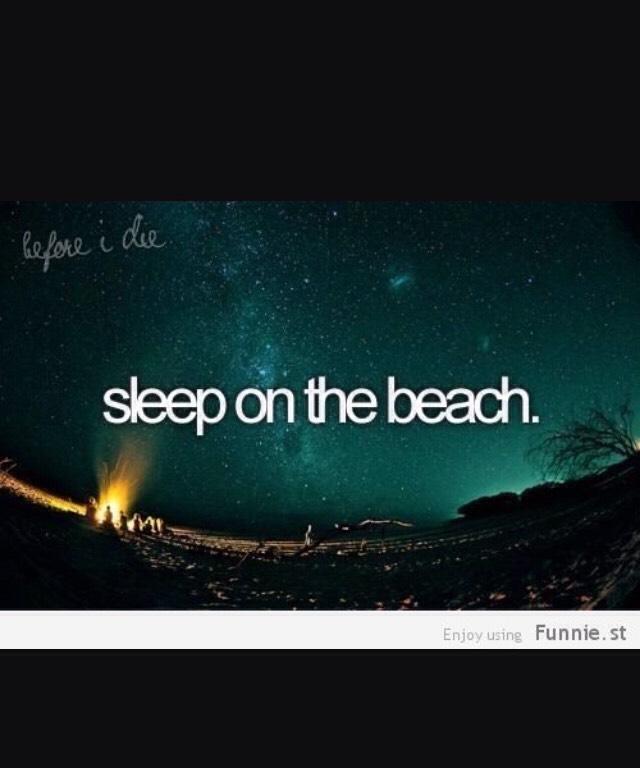 Sleep on the beach with your partner/boyfriend