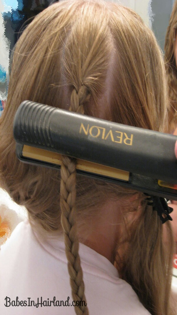 to gret waves braid your hair &then go over with straightener in sections for 10 sec&cool then undue