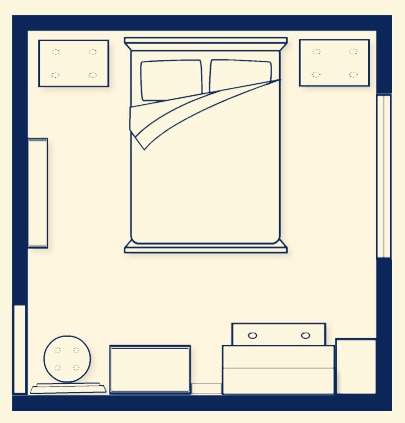 First it's best to draw out a birds eye view plan of your bedroom, this way it's easier to stay organised. Plan everything from what colour paint you want to use, to where you want certain things to go.📊✏️