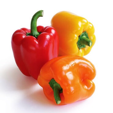 Cut a bell pepper and throw in the same pan as onion and zucchini
