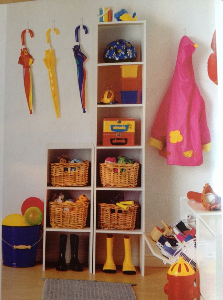 Create a Command center at home for storing school equipment and clothing your kids use every day.