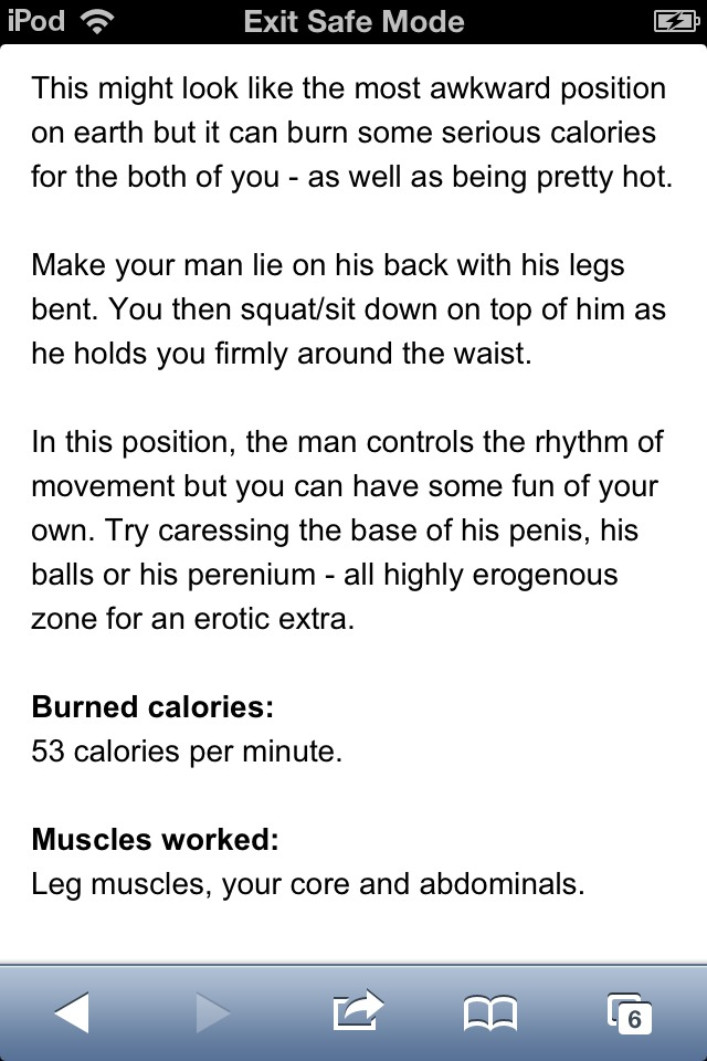 Sex positions for women to lose weight
