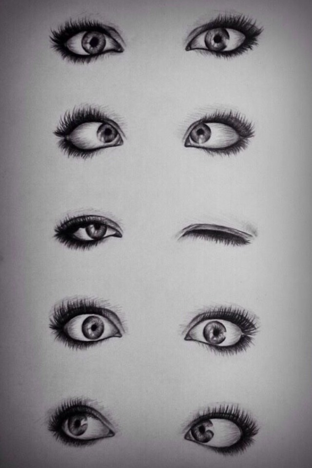 A bunch of examples of eyes for different emotions