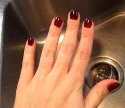 3. finally rinse the Pam off your nails and cautiously wipe your hands, your nails should hopefully be all dried!