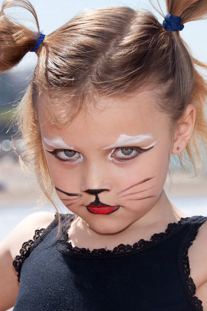face painting cat - 683×1024