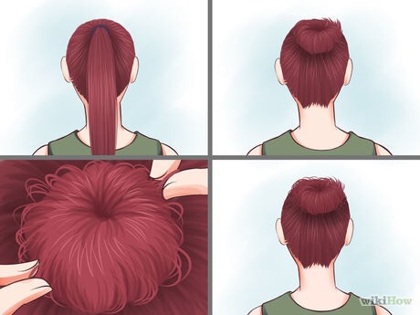 Try a messy bun. Secure your hair in a neat ponytail. Twist the actual hair around the base, where the hair tie is. Secure with another elastic and pull random pieces out.