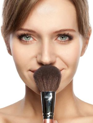 6. Set Your Makeup If you're out of makeup setting powder, baby powder works great in a pinch. You only need a little bit otherwise you'll end up looking chalky!