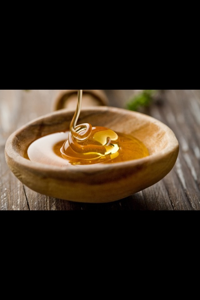 Put one spoon full of honey into a bowl/container