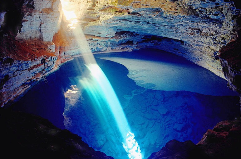 Enchanted Well at Chapada Diamantina in Bahia, Brazil