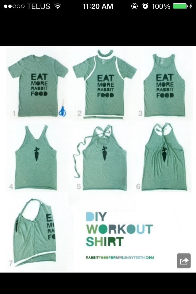 how to make a cut up t shirt look great