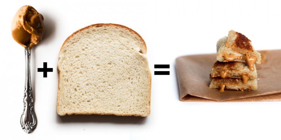 7. Smooth Peanut Butter + Bread = Fried Peanut Butter Sandwich Rolls