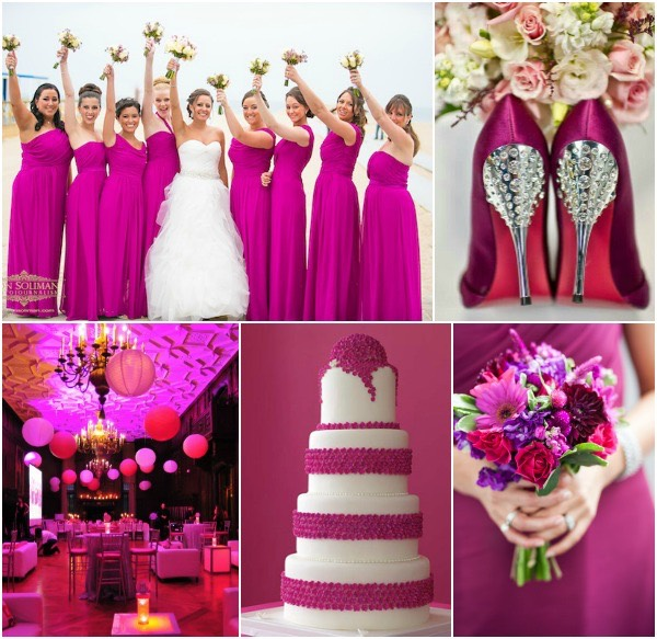 For A Diffe Wedding Experience Try Bold Hot Pink And The Table Setting Should Be