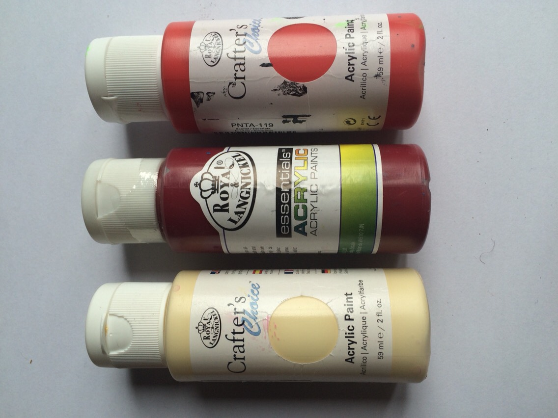 Acrylic or poster paints
