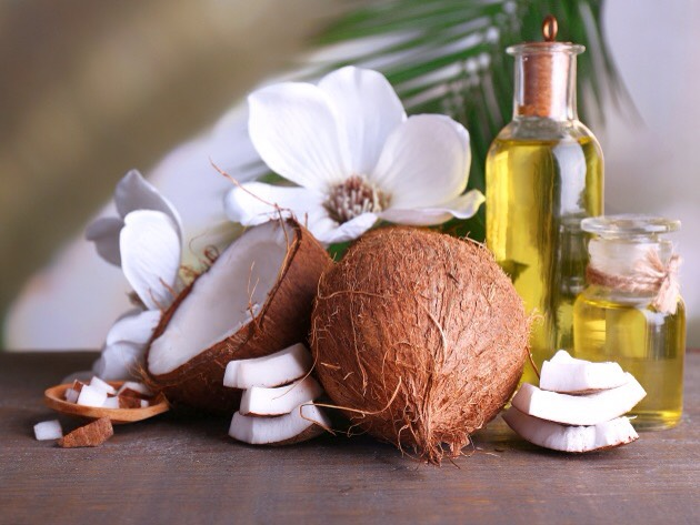 Coconut oil smells ah-mazing,moisturizes in depth + leaves the skin super soft + hydrated. It is easily absorbed, which is important keepingin mind you'll be using the sunscreen during the day.Coconut oil has SPF 4-6.