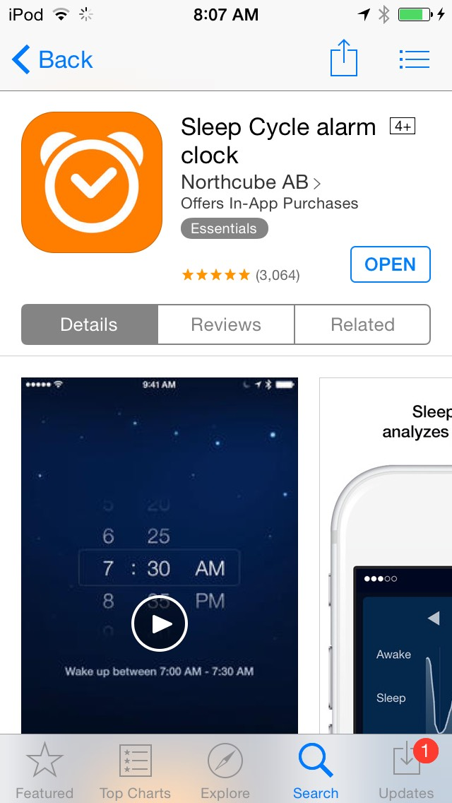 Sleep Cycle is an app that will track how you sleep in order to wake you up when you are in the lightest possible cycle of your sleep. It's only 99 cents and is amazingly helpful for getting a good night sleep.