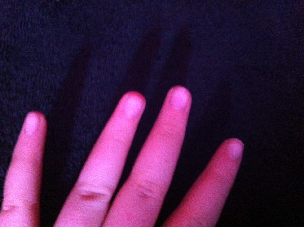 Make sure nails are cut about the same length (doesn't have to be perfect