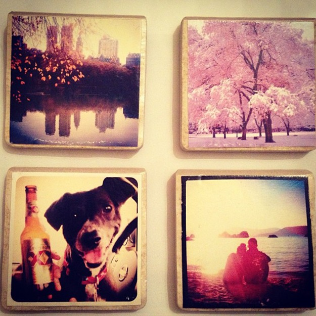 Make coasters from Instagram