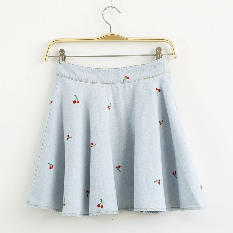 A skater skirt with cherries. Cherries are very cute.