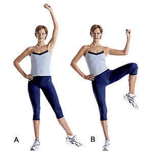 15 oblique crunches (each side)
