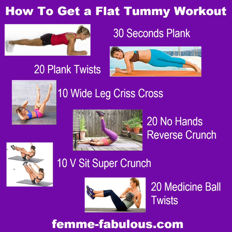 From femme-fabulous.com to you flat stomach steps!!