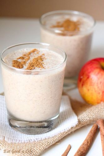 Apple Smoothie: Apple smoothie appears in bright green color as this is prepared with green apples (most). It simply tasty, tart and refreshing smoothie which loses weight and provides many other health benefits.