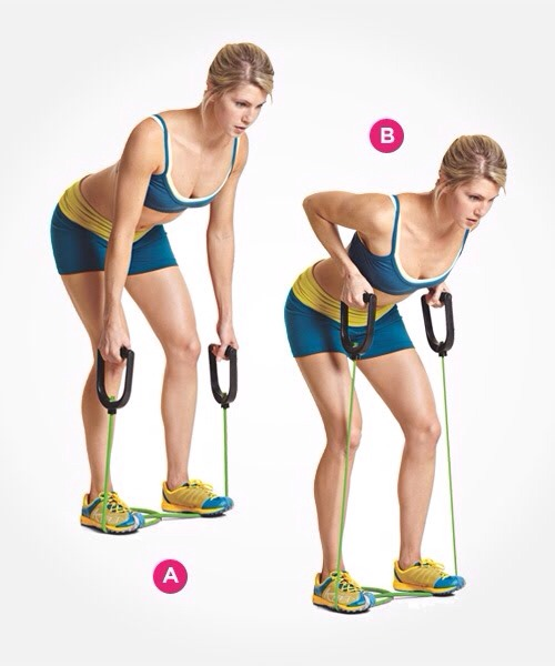 --> Resistance Band Bent-Over Row