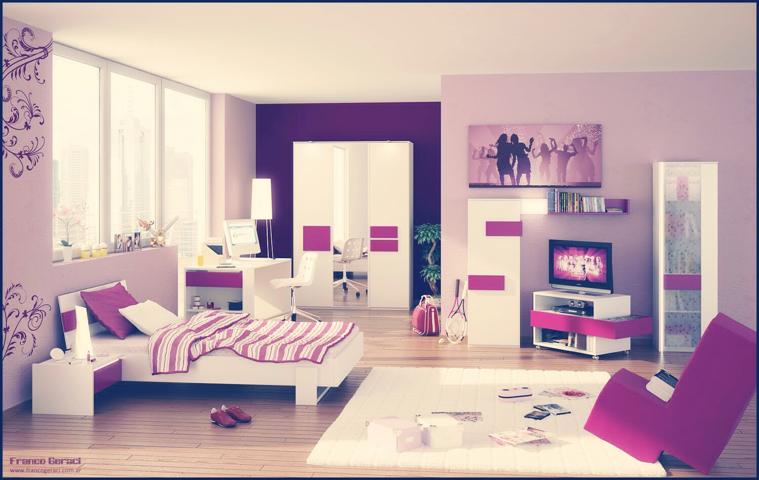 Teenage dream room design decoration Dream room design
