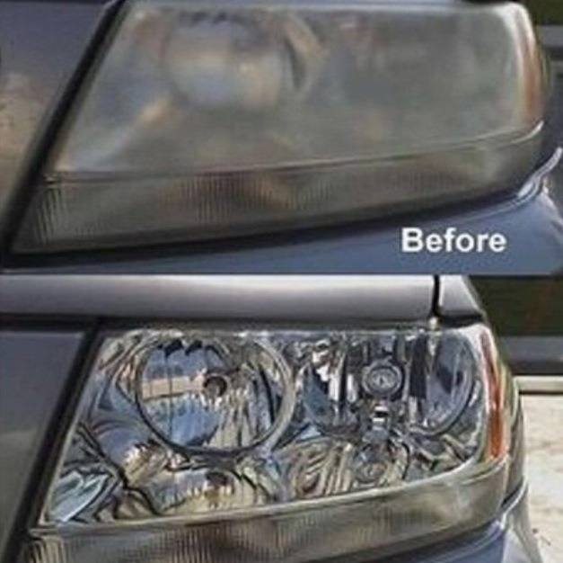 Use tooth paste to clean your headlights