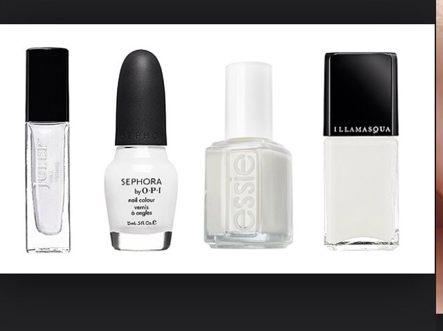 Always start your manis with a solid white base coat.