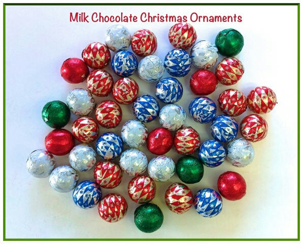 decorate with chocolate balls