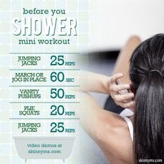 how to use your shower time to help you lose weight