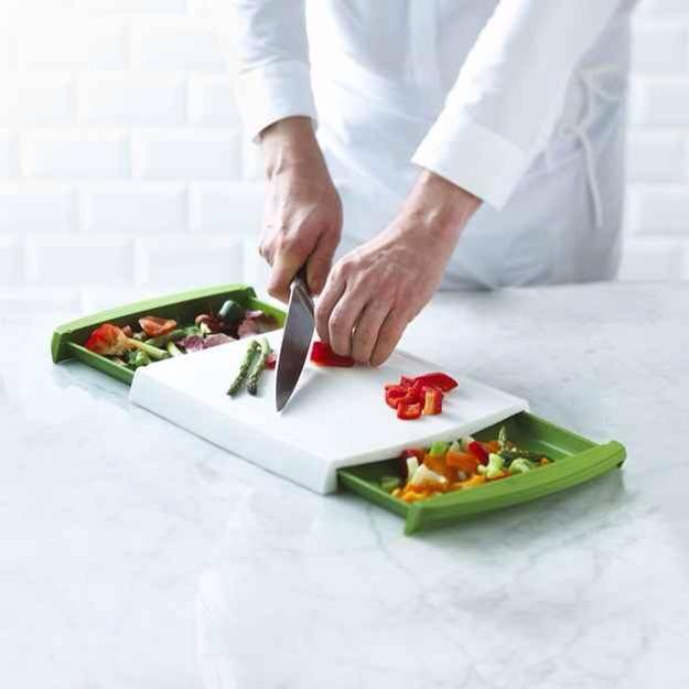 25. The Chop n' Clear Cutting Board, $20    Get it at amazon.com