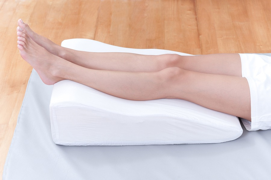 Elevate your legs – When you're resting, put your feet up to help take the pressure off your legs and feet and help blood drain back to your heart. This will decrease the pressure on the veins and skin and make them less likely to weaken.