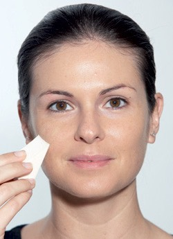 Blend down/pat/buff in your foundation. Never blend up because it will make the little hairs on your face stand out.
